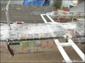 Barco de Desechos Plasticos